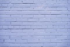 Purple violet brick painted wall, abstract urban background, texture, banner design, copy space Stock Images