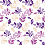 Purple and violet color decorative fall leaves Royalty Free Stock Photo