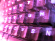 Purple / Violet Keyboard Blur Stock Images