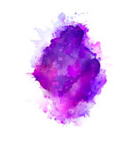 Purple, violet, lilac and blue watercolor stains. Bright color element for abstract artistic background. Stock Photos