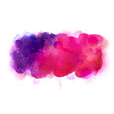 Purple, violet, lilac and pink watercolor stains. Bright color element for abstract artistic background. Stock Photos