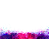 Purple, violet, lilac and pink watercolor stains. Bright color element for abstract artistic background. Royalty Free Stock Images