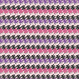 Purple-violet nail polishes seamless pattern. Digital drawing of nail lacquers in a row. Inclined view Stock Photography
