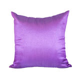 Purple or Violet Pillow Isolated on White Background Stock Image