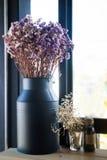 Purple violet statice flower bouquet Stock Image
