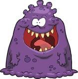 Purple virus. On a white background illustration Royalty Free Stock Image