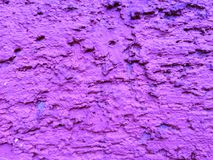 Purple wall holes for background stock photography