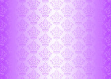 Purple wallpaper with ornaments Stock Images