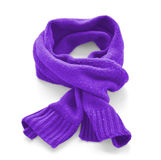 Purple warm scarf. On a white background royalty free stock image