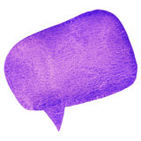 Purple watarcolor speech bubble Royalty Free Stock Image