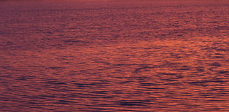 Ripples on water at sunrise. Surface of water showing ripples with purple tones at sunrise stock image