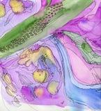 Purple watercolor background Stock Photos