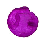Purple watercolor circle Royalty Free Stock Photography