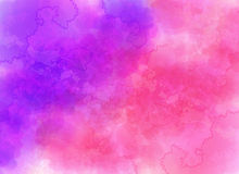 Purple watercolor effect vector background Royalty Free Stock Photos