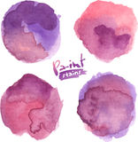 Purple watercolor painted vector stains set Royalty Free Stock Photo