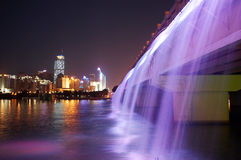 Purple waterfall Stock Photography