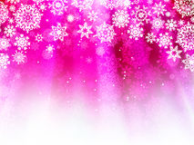 Purple wave background with snowflakes. EPS 8 Royalty Free Stock Images