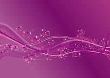 Purple Waves. In a colored air Stock Images