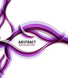 Purple waves modern business abstract background Stock Photo