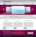 Purple website design template Royalty Free Stock Photography
