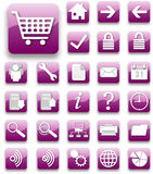 Purple website and internet icon Stock Photo