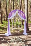 Purple wedding arch Stock Photo