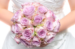 Purple wedding bouquet Royalty Free Stock Image
