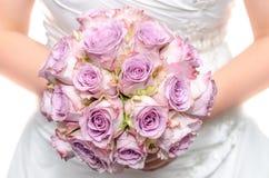 Purple wedding bouquet Royalty Free Stock Image