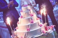 Purple wedding cake Stock Images
