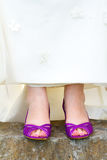 Purple Wedding Shoes Stock Image
