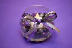 Purple Wedding Table Decoration Centerpiece Royalty Free Stock Image