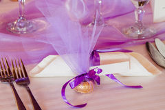Purple wedding Royalty Free Stock Image