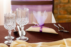 Purple wedding Stock Photography