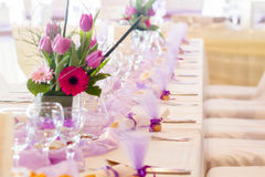 Purple wedding Stock Images