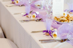 Purple wedding Stock Photo