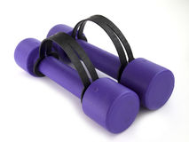Purple weights Royalty Free Stock Image