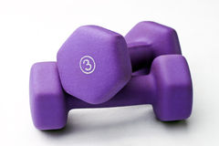 Purple Weights Stacked Stock Images