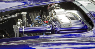 Purple & White 1965 Ford Shelby Cobra Engine Stock Image