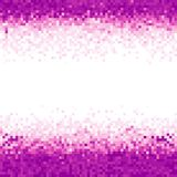 Purple and white abstract pixel background. Abstract digital background with mesh of squares and gradient. Geometric style Vector Illustration