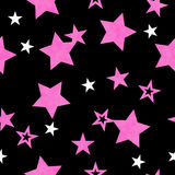 Purple, White and Black Star Fabric Background Stock Photography