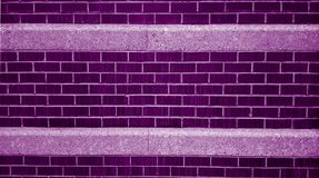 Purple and White Brick Wall Royalty Free Stock Photo