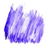 Purple white brushstrokes acrylic banner. Isolated on white background Stock Photos