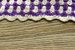 Crochet texture of handmade oven cloth Royalty Free Stock Images