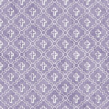 Purple and White Cross Symbol Tile Pattern Repeat Background Stock Image
