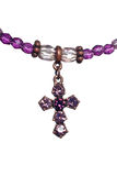 Purple and white crucifix Stock Images
