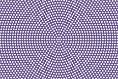 Purple white dotted halftone. Halftone  background. Radial textured dotted pattern. Retro futuristic texture. Purple dot on transparent backdrop. Abstract Royalty Free Stock Photography