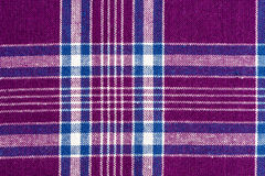 Purple and white fabric. Swatch textile background Royalty Free Stock Photos