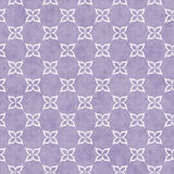 Purple and White Flower Symbol Tile Pattern Repeat Background Royalty Free Stock Image