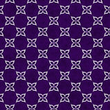 Purple and White Flower Symbol Tile Pattern Repeat Background Stock Photos