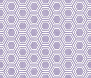 Purple and White Hexagon Tile Pattern Repeat Background Stock Photos